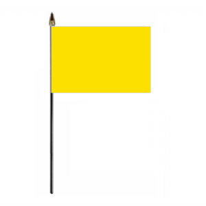 Plain Yellow Hand Flag - Small.